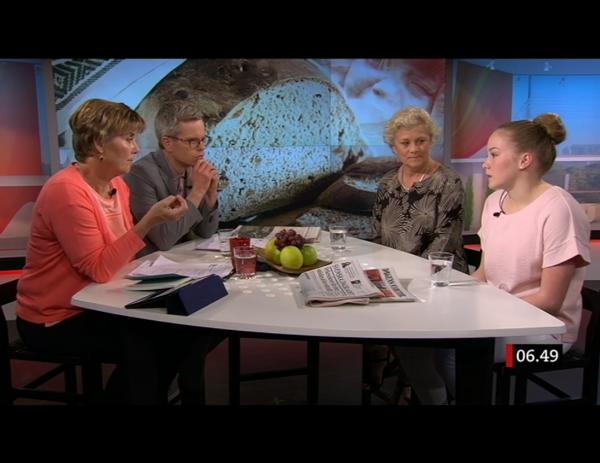 Om celiaki i SVT:s Gomorron Sverige