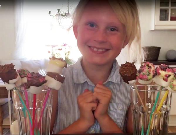 Sjuåriga Linnea visar hur du gör glutenfritt godis