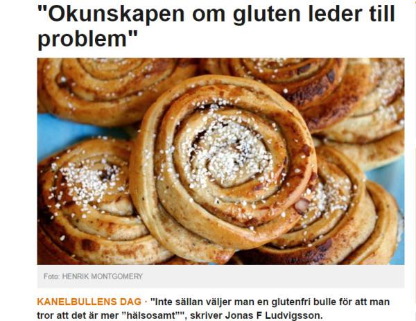 Celiaki i SVT Opinion på kanelbullens dag