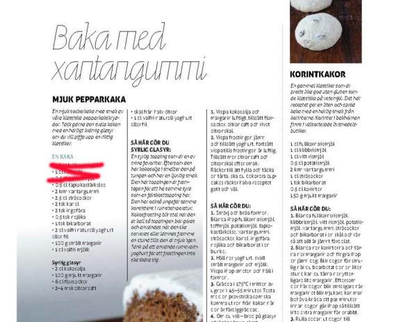 Obs! Fel i recept i CeliakiForum