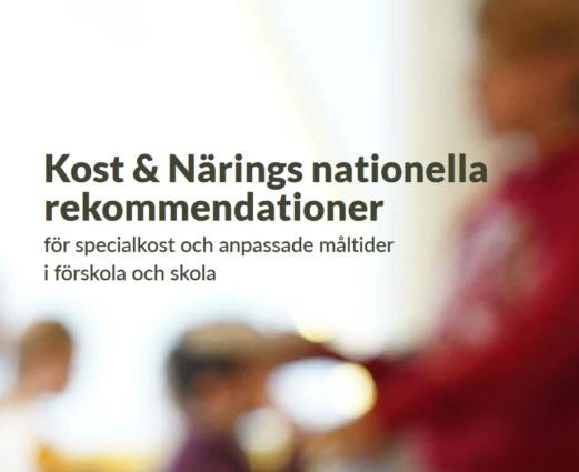 Nya nationella rekommendationer för specialkost