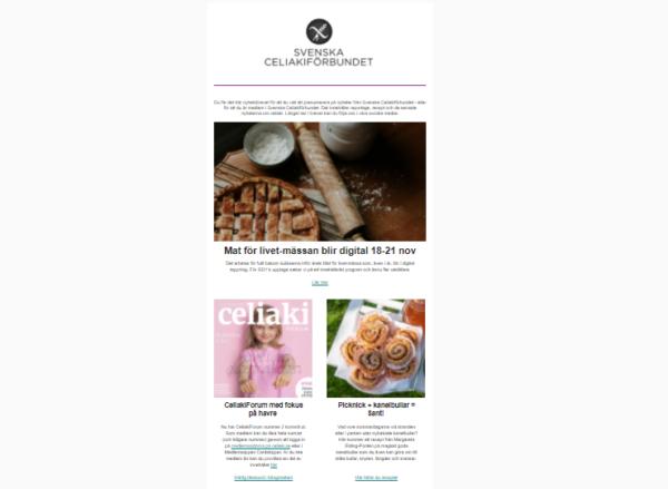 Signa upp dig för vårt nyhetsbrev om celiaki och laktosintolerans